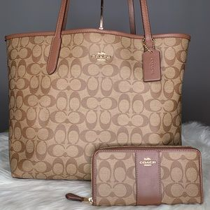 Coach Large City Tote and wallet set